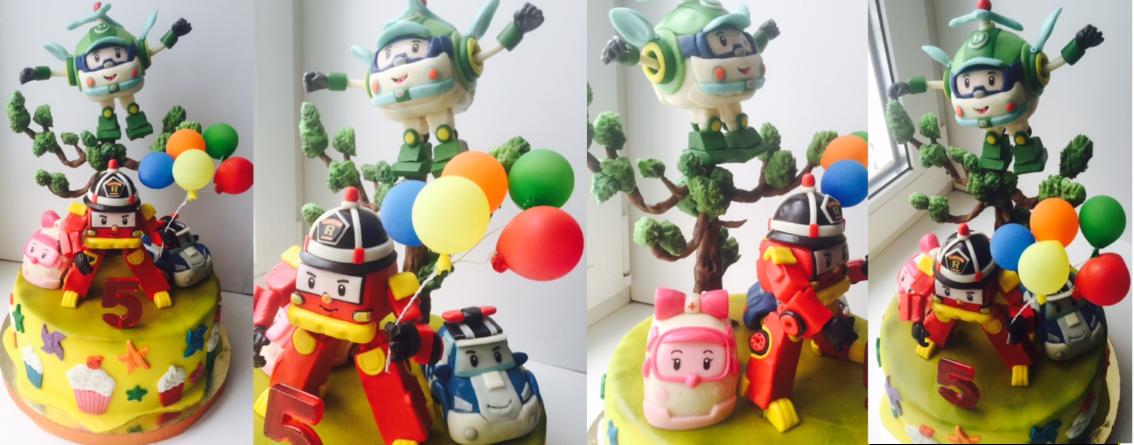 Торты робокар поли и его друзья фото картинки